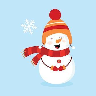 Sneeuwman. de foto van kinderen. kaart.