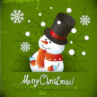 Sneeuwmanillustratie voor kerstmisontwerp.