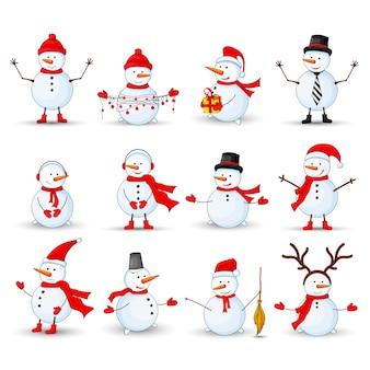 Sneeuwmannen instellen