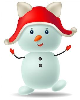 Sneeuwpop stripfiguur