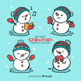 Sneeuwpop tekens instellen