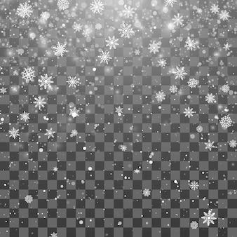 Sneeuwval concept achtergrond