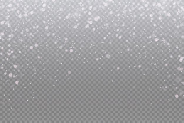 Sneeuwval. sneeuw achtergrond. vallende kerst