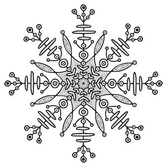 Sneeuwvlok creatieve illusration. etnische tijdelijke tatoeage. creatieve afdruk.