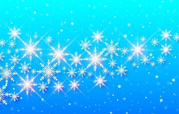 Sneeuwvlok decoratieve vrolijke kerstkaart achtergrond