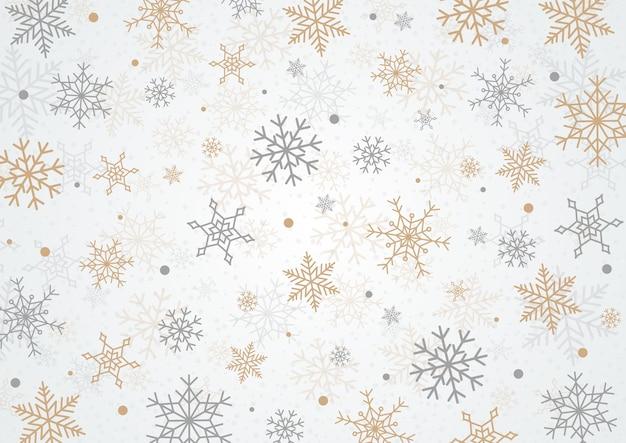 Sneeuwvlok kerst achtergrond