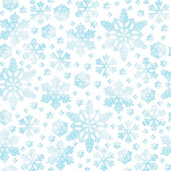 Sneeuwvlok naadloos patroon, de sneeuwachtergrond van de de winterlijn, document omslag, stoffendruk, behangdecor.