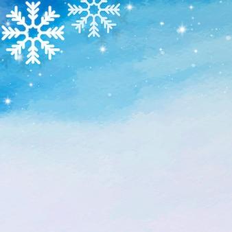 Sneeuwvlok op blauwe achtergrond Gratis Vector