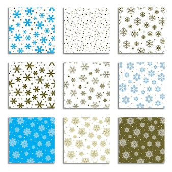Sneeuwvlok patronen collectie