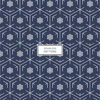 Sneeuwvlok patroon naadloos. winter patroon.
