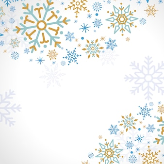 Sneeuwvlok vakantie ontwerp achtergrond