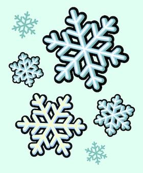 Sneeuwvlok van winter sneeuw pictogram kerst vector afbeelding