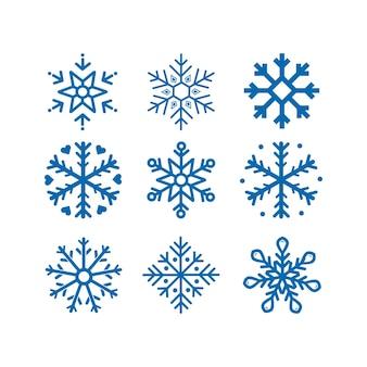 Sneeuwvlok vectoren. isolatie door achtergrond.