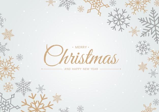 Sneeuwvlok vrolijke kerstmis op blauwe achtergrond