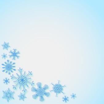 Sneeuwvlokken in de hoeken