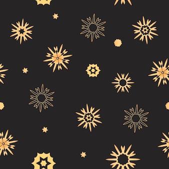 Sneeuwvlokken naadloos patroon. inpakpapier voor kerst- en nieuwjaarsgeschenken.