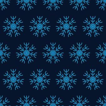 Sneeuwvlokken naadloze achtergrond. kerstmis en nieuwjaar decoratie-elementen. vector illustratie.