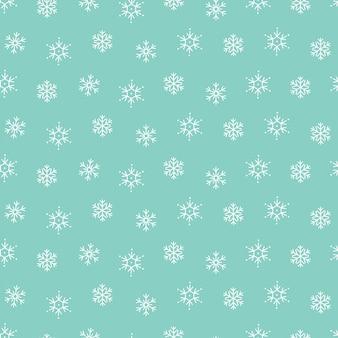Sneeuwvlokken winter kerst patroon naadloze achtergrond