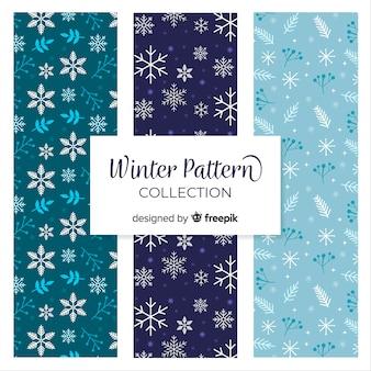 Sneeuwvlokken winter patroon collectie