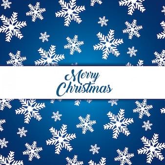 Sneeuwvlokkenachtergrond om vrolijke kerstmis te vieren