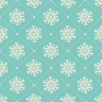 Sneeuwvlokkenpatroon voor de winterachtergrond. creatieve en retro-stijlillustratie Premium Vector