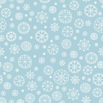Sneeuwvlokkerstmis en nieuw jaar naadloos patroon