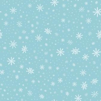 Sneeuwvlokpatroon - sneeuwvlok vector patroon.