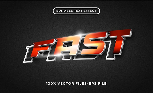 Snel 3d-teksteffect premium vector