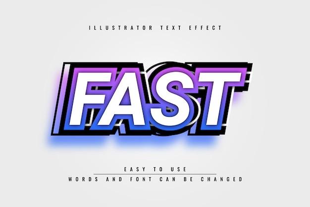 Snel - bewerkbaar 3d-teksteffectontwerp