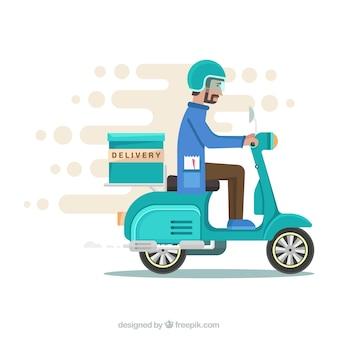 Snel leveringspakket met vlak ontwerp