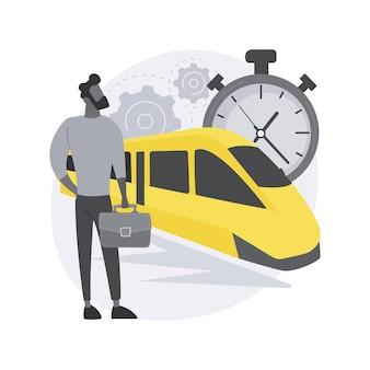 Snel transport. hogesnelheidstrein, personenvervoer, perron van het station, luxeauto, ritten op de weg, moderne elektrische trein.