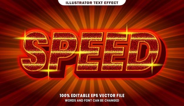 Snelheid 3d bewerkbaar tekststijleffect