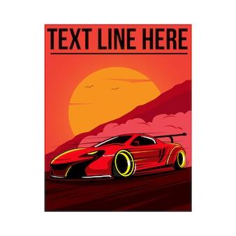 Snelheid auto illustratie