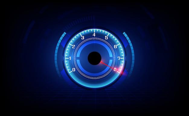 Snelheid beweging achtergrond met snelle snelheidsmeter auto. racing snelheid achtergrond.