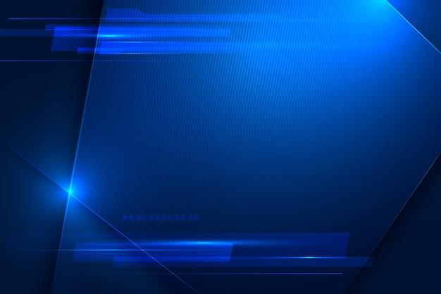 Snelheid en beweging futuristische blauwe achtergrond Premium Vector