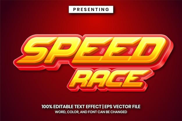 Snelheid race teksteffect