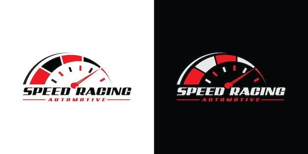 Snelheid rpm-logo-ontwerp voor autobedrijf