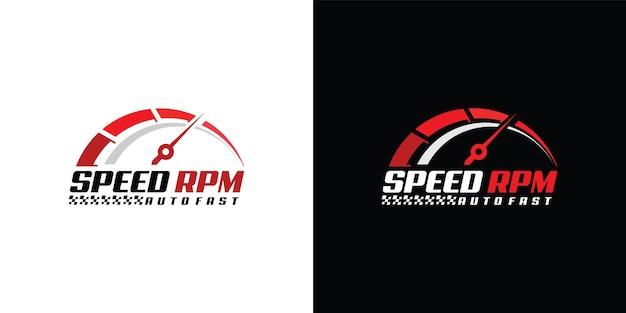 Snelheid rpm logo-ontwerp voor automotive