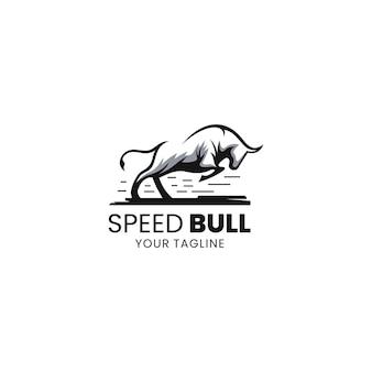 Snelheid stier logo