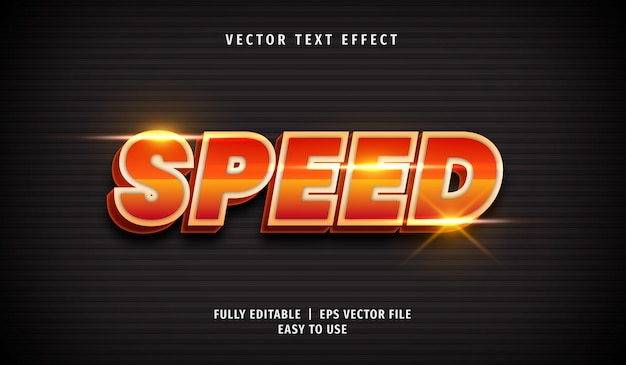 Snelheid teksteffect, bewerkbare tekststijl