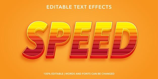 Snelheid tekststijl bewerkbaar teksteffect