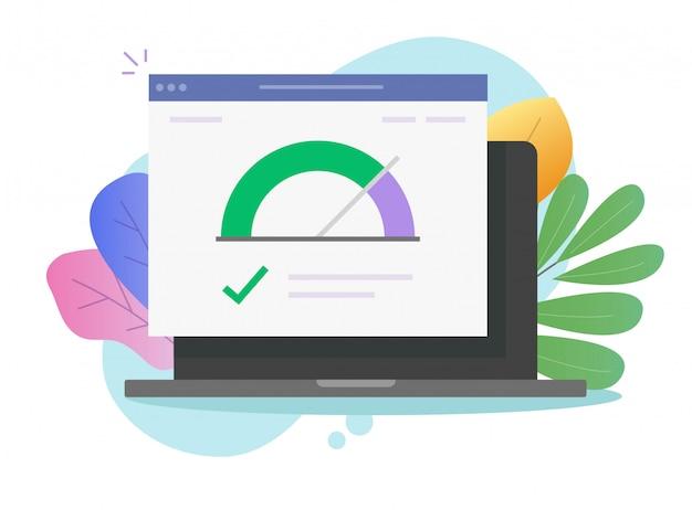 Snelheid van het laden van internetpagina's op de website