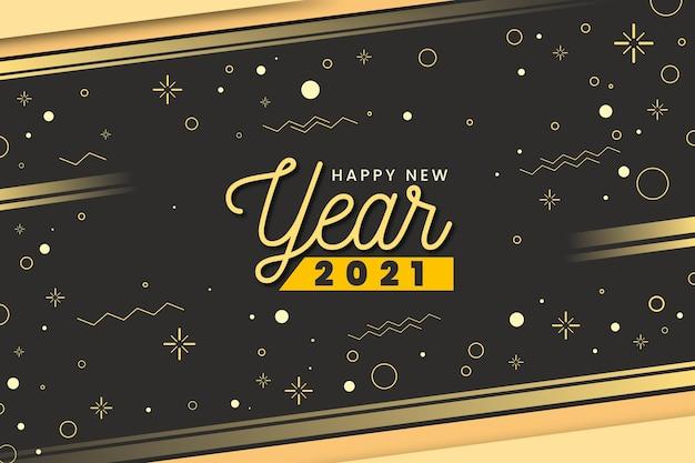 Snelheidslicht gouden gelukkig nieuwjaar 2021