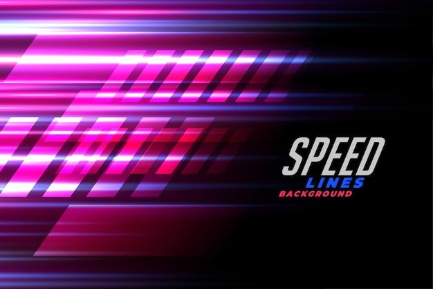 Snelheidslijnen racen achtergrond voor auto of motorsport