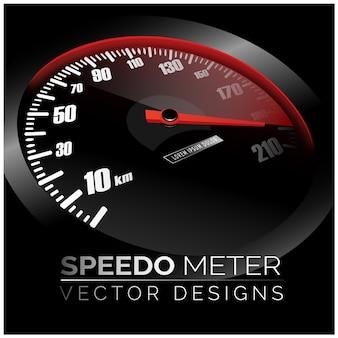 Snelheidsmeter achtergrond ontwerp