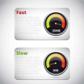 Snelheidsmeter realistisch pictogram. vector illustratie. snelheid