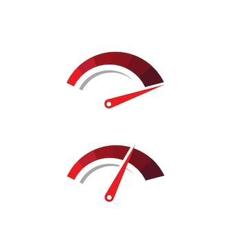 Snelheidsmeterpictogram voor auto-logo vectorillustratiepictogramontwerp