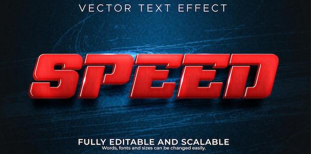 Snelheidsrace-teksteffect, bewerkbaar snel en sporttekststijl