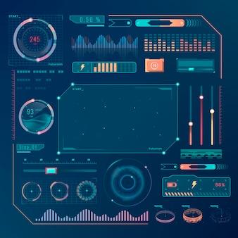 Snelheidstechnologie interface ontwerpelementen