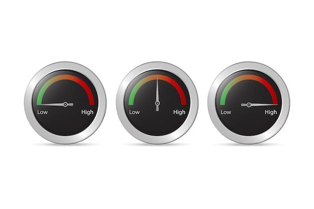 Snelheidstest pijl vector